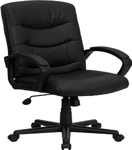 Executive Mid Back Leather Swivel - 6