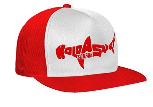 Koloa Shark(tm) Mesh Back Trucker Hat in Red/White Red ()