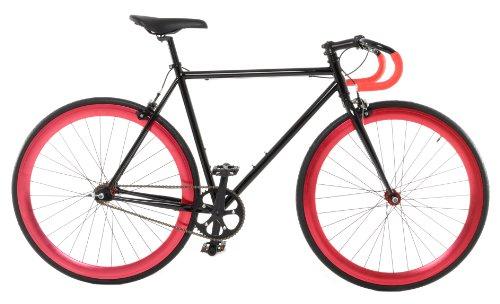 Vilano Medium (54cm) Attack Fixed Gear Bike Track Bike, Black/Red (Vilano Fixie Bike)