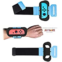 Wrist Band for Just Dance 2020/2019/2018 Joy-Con Compatible with Nintendo Switch Standard Edition (2 Packs)