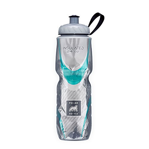 Polar Bottle Insulated Water Bottle (Spin Steel) (24 oz) - 100% BPA-Free Water Bottle - Perfect Cycling or Sports Water Bottle - Dishwasher & Freezer Safe