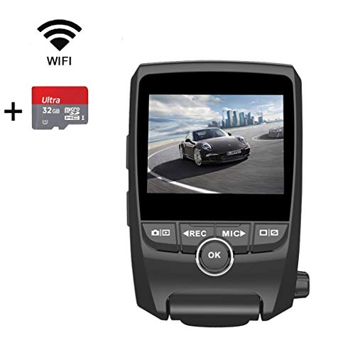 (EACHPAI Car Dash Cam,1080P FHD 170 Degree Wide Angle Lens Front and Rear Dual Lens Super Capacitor Dashboard Camera Recorder with G-Sensor,ADAS,Motion Detection,Loop Recording)