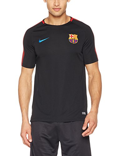 Nike Mens FCB Barcelona Short Sleeve Training Top Black/University Red 854253-011 Size Medium