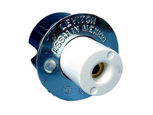 Leviton 00151 - LH0151 SLIMLINE LAMPHOLDER SNAP-IN (LEVITON #516) 1 Pin Fluorescent Base Socket