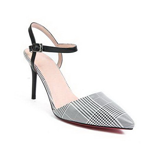 Asl05494 Blanc Sandales Balamasa Femme Compensées Tv0wpq