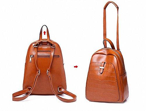 Notebooks Shoulder Backpacks Girl Bag Women Rucksacks 2 Style School Fashion Pu Leather 1 Black Waterproof Laptop 1xYCwq8