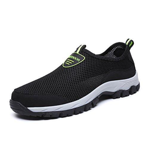Sport Lacet sans pour Marcher Outdoor Chaussure Basket 48 Respirant pour Noir 39 Mode Papa Sneaker Homme Chaussure en Antichoc Courir Textile de fzvxvIwqB