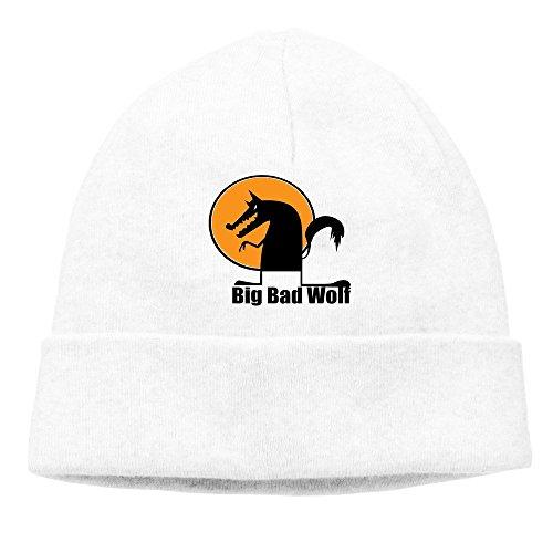 cálido Bad Big Wolf punto gorro Blanco tapa invierno 86tzCn6r