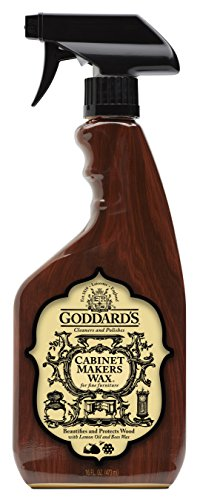 - Goddard's Cabinet Makers Fine Wax Spray - For Wood Furniture - 16 oz.