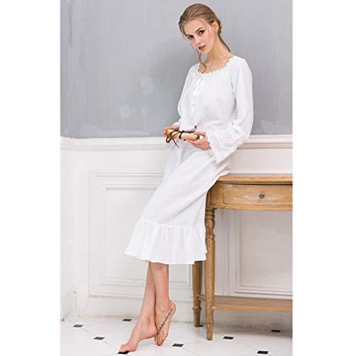 Camisa Gray Tamaño Alta Mujer color Palace De Gama Blanco Servicio Xl A Princesa Pijamas Manga Domicilio Camisón Larga xSA1wHxq
