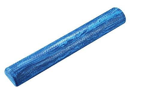 Trendy Sport Halbe Pilates Rolle, Fitnessrolle, Yoga-Rolle mit 91 cm Länge, Ø 15 cm in hellblau, Optik marmoriert