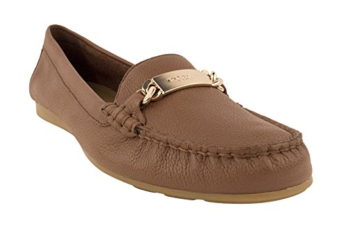 Coach-Womens-Olive-Pebble-Grain-Leather-Loafers