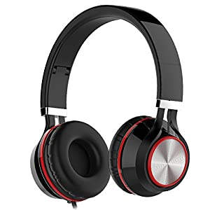 Headphones, Wackolee 015IP Headphones with Microphone for Smartphones Mp3/4 Laptop Computers Tab let Macbook Folding Gaming Earphones (Black)