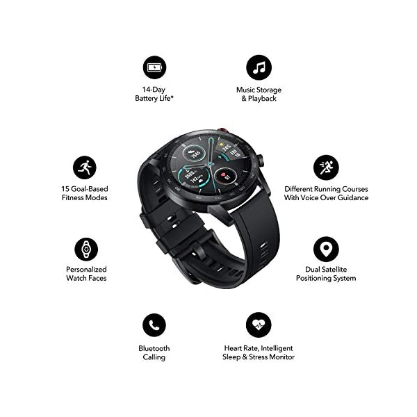 41jUOHZHDnL HONOR Magic Watch 2 (46mm, Charcoal Black) 14-Days Battery, SpO2, BT Calling & Music Playback, AMOLED Touch Screen…