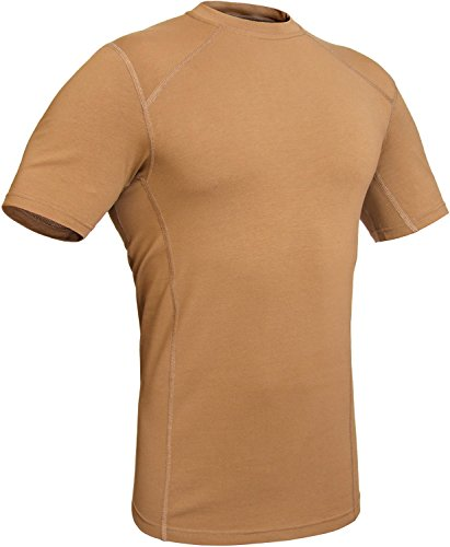 Military Stretch Cotton Underwear T-Shirt - Tactical Hiking Outdoor - Punisher Combat Line by 281Z (XXX-Large, Coyote Brown) (Coyote Tan Light Tactical Body)