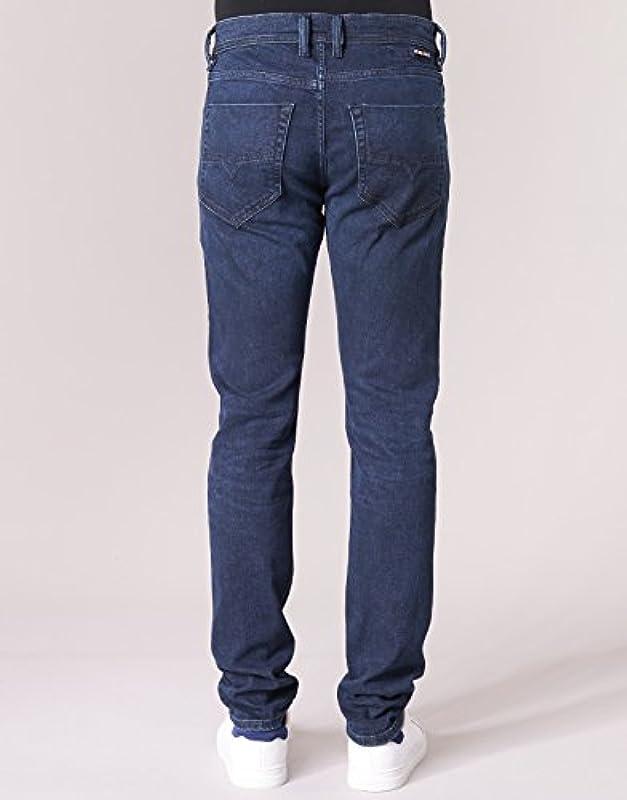 Diesel Męskie Tepphar Trousers Slim Jeans: Odzież