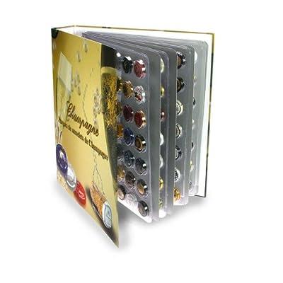 SAFE-ID – Articles de collectionneurs – iD-Safe Album Champagne avec 6 feuilles pour 252 Capsules de Champagne 7880SP