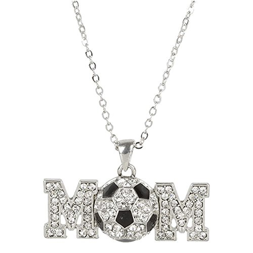 Soccer Mom Silver Pendant Necklace