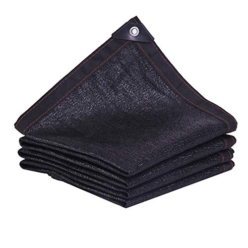 (LIXIONG Shade Cloth Shading Net Outdoor PE Insulation Net Sunscreen Anti-UV Metal Rope Hole, 24 Sizes Customizable (Color : Black, Size :)