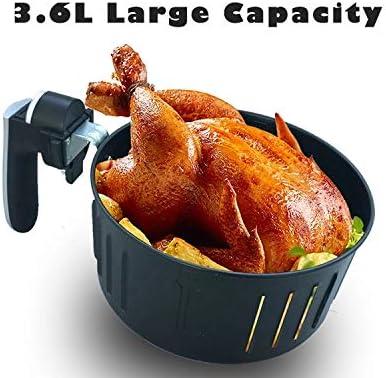 Rzj-njw 5.5L Air Fryer mit Digitalanzeige, Timer und voll einstellbare Temperaturregelung für gesundes Öl Free & Low Fat Cooking