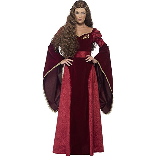 Smiffy's Women's Medieval Queen Deluxe Costume, Multi, Large