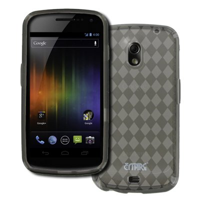 EMPIRE Samsung Galaxy Nexus I515 Poly Skin Case Étui Coque Cover Couverture (Smoke) + Voiture de pare-brises