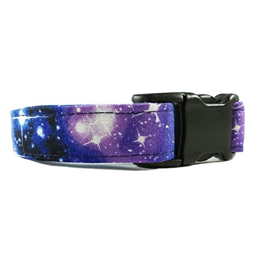 Galaxy Print Dog or Cat Collar for Pets Size Extra Small with Extra Length 5/8