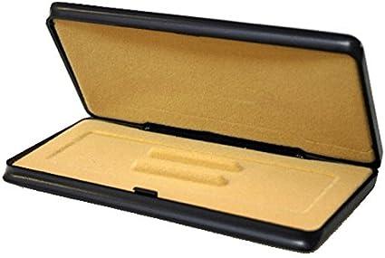 Pack 10 estuches para 1, 2 o 3 bolígrafos/plumas/portaminas - Estuche bolígrafo color negro (16,5 x 7 x 1,5 cm): Amazon.es: Oficina y papelería