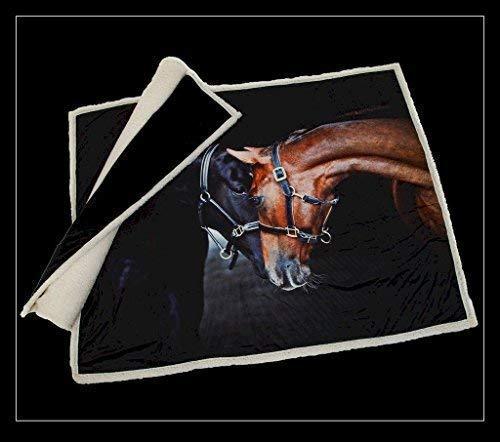 Lusso Cavallo Pony Stallion Cavalla Supersoffice Crema Pile Sherpa Lenzuolo Copriletto 120 x 150CM