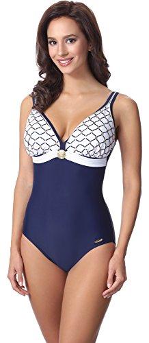 Blu Costume Donna Intero da Bagno Navy aQuarilla Bianco AQ100 qfOxRw0xa