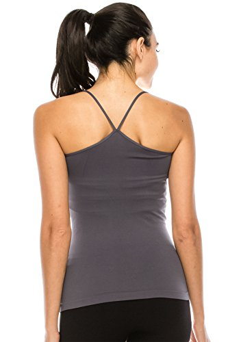 (Kurve American Made Y-Back Spaghetti Strap Basic Cami, UV Protective Fabric UPF 50+ (Made with Love in The USA))