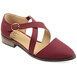 Journee Collection Womens D'Orsay Ankle Strap Flats