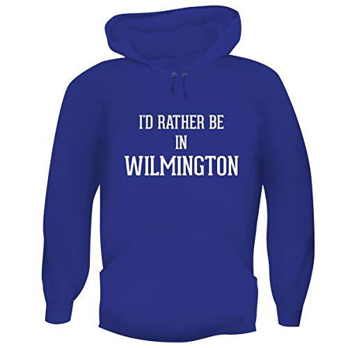 One Legging it Around I'd Rather Be in Wilmington - Hashtag Men's Funny Soft Adult Hoodie Pullover, Blue, Medium
