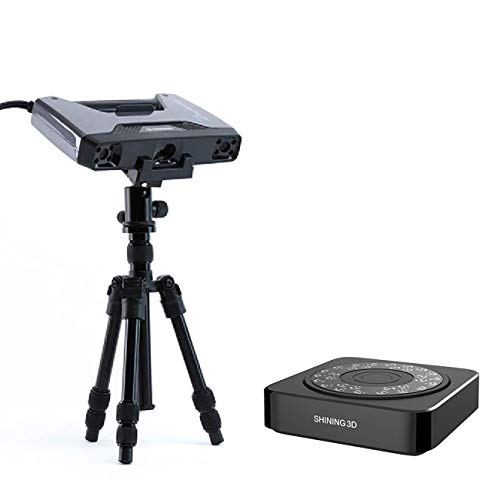 [ EinScan Pro 2X Plus ] + [ Industrial Pack - Tripod and Turntable ] Shining3D Handheld Multi-Functional 3D Scanner with Lifetime SolidEdge CAD Software and Global Warranty