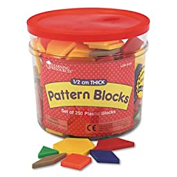 Pattern Blocks, Grades Pre-K and Up, Sold as 250 Each