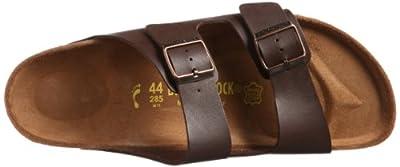 Birkenstock womens Arizona in dark brown from Birko-Flor Sandals 46.0 EU N