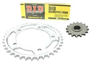 D.I.D Standard - Kit de cadena (HD) para Yamaha DT 125 R /RE (modelos 1991-2006)