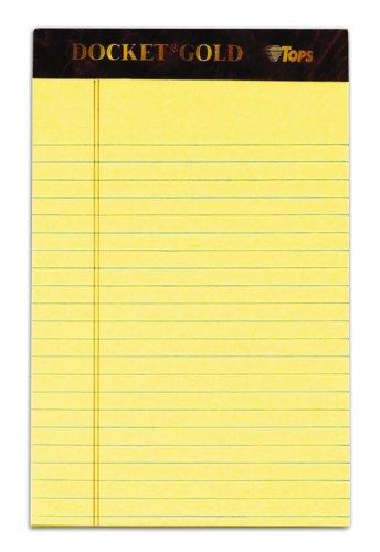 TOPS Docket Gold Writing Tablet, 5 x 8 I - Jr Legal Ruled 50 Sheet Shopping Results