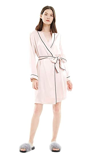 9dffd5c04388 LILYSILK Simplicity Silk Dressing Gown with Contrast Piping for Women Long  Ladies Kimono Robe 100% Pure Mulberry Silk: Amazon.co.uk: Clothing