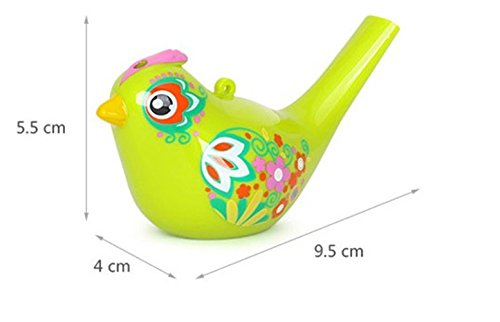 Baby Bath Time Water Warbling Bird Whistle Creative Colored Drawing Water Bird Phonation Musical Scale Whistle Toy