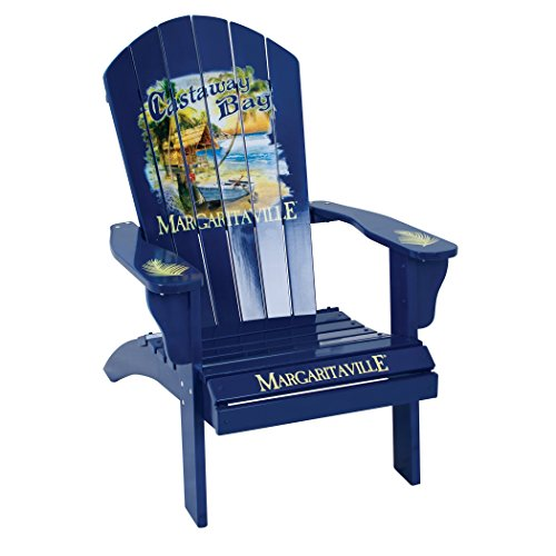 Chair Margarita - Margaritaville Outdoor Patio Wood Adirondack Chair, Castaway Bay