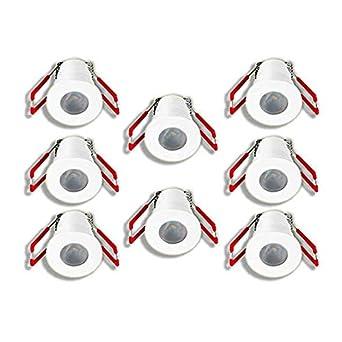Dusche Terrassendach Bad Weiss, Einzeln, mit Netzteil LEDUX 1W LED Mini Einbaustrahler IP65 Wassergesch/ützt 3000K Warmwei/ß Dimmbar Mini-Spots f/ür Innen- und Au/ßen
