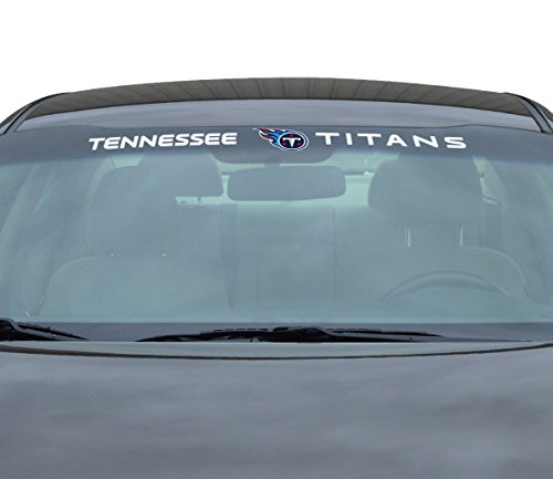 Tennessee Titans Vinyl (NFL Tennessee Titans Windshield Decal, Red, Standard)