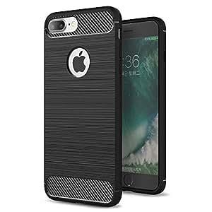 iPhone 7 Plus Case Slim Brush Texture Hybrid Defender Armor Protective Case Cover