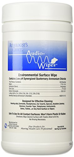 Disinfectant Towelettes (Audiowipes Disinfectant Towelettes (Canister) by OakTree, 160 pop-up towelettes)