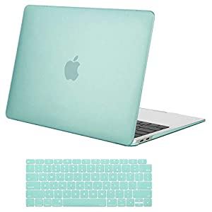 MOSISO MacBook Air 13 Inch Case 2018 Release A1932 with Retina Display, Plastic Hard Case Shell & Keyboard Skin Cover Only Compatible Newest MacBook Air 13 with Touch ID, Mint Green