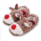 UIESUN Womens Indoor Warm Fleece Slippers Ladies Girls Cartoon Winter Soft Cozy Booties Shoes