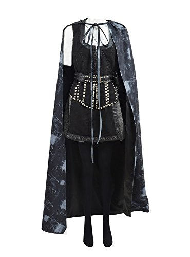Very Last Shop Hot TV Series Fairy Tale Queen Costume Women Black Vest Skirt Cape Full Set (US Women-M, (Regina Costumes Once Upon A Time)