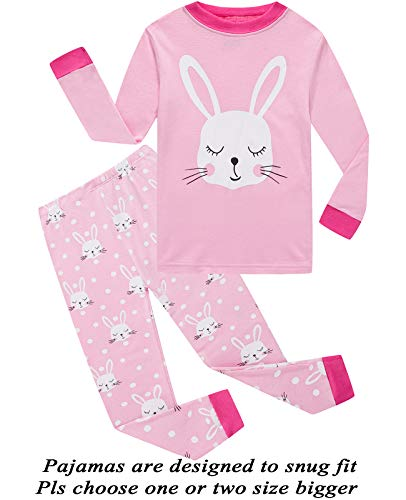 Little Pajamas Girls Pjs Easter Rabbit Toddler Sleepwear Kids Easter Gift Clothes Sets Size -