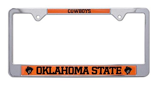 Elektroplate Oklahoma State University OSU Pistol Pete Cowboys Metal License Plate Frame